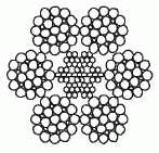 Канат двойной свивки типа лк-3 конструкции 6x25(1+6;6+12)+7х7(1+6)(ГОСТ 7667-80)